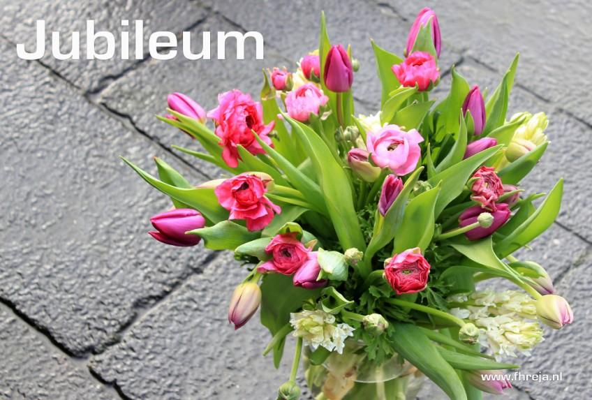 Blog - Week 6 - 2015 - Jubileum - kleurige voorjaarsbloemen - Tulp - Hyacint - Anemoon - Fhreja - Ontwerpbureau Groene Leefomgeving