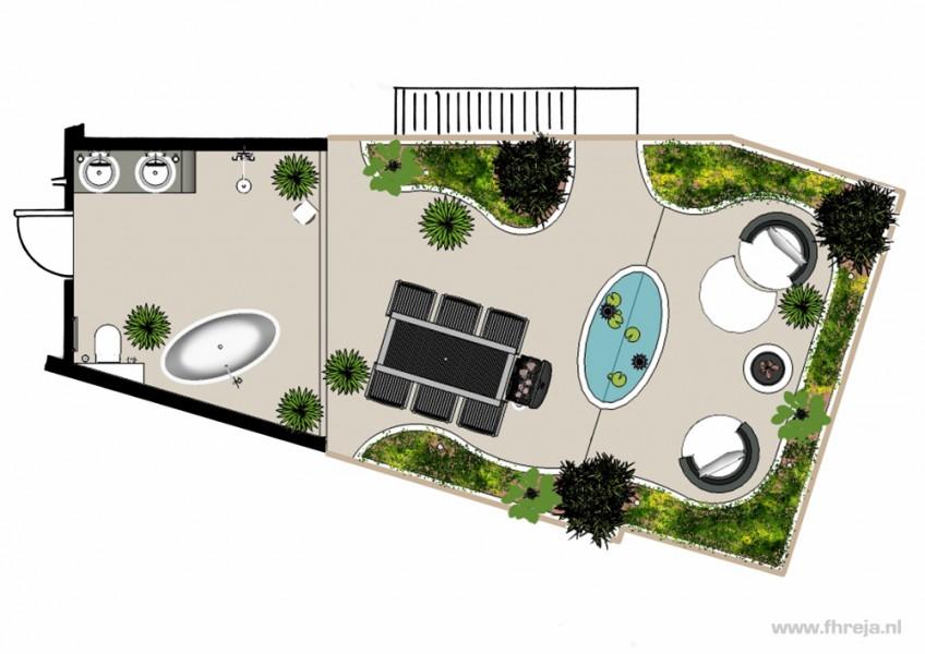 Interieurs - badkamer - dakterras - Bali - Fhreja - Ontwerpbureau Groene Leefomgeving