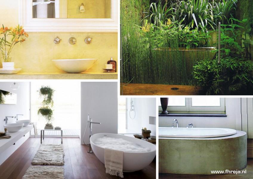 Interieurs - badkamer - Bali - Sfeerbeelden - Fhreja - Ontwerpbureau Groene Leefomgeving