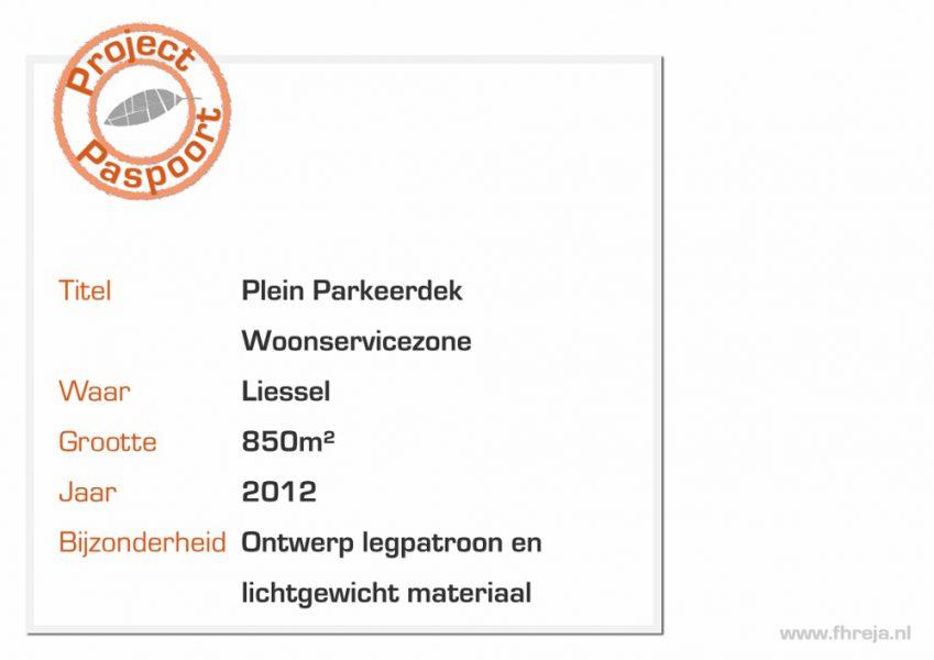 Plein Parkeerdek Woonservicezone - Liessel -Fhreja