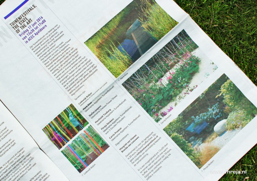 Spreker bij Tuinenfestivals The state of the art - Ontwerpinstituut - Fhreja - Ontwerpbureau Groene Leefomgeving