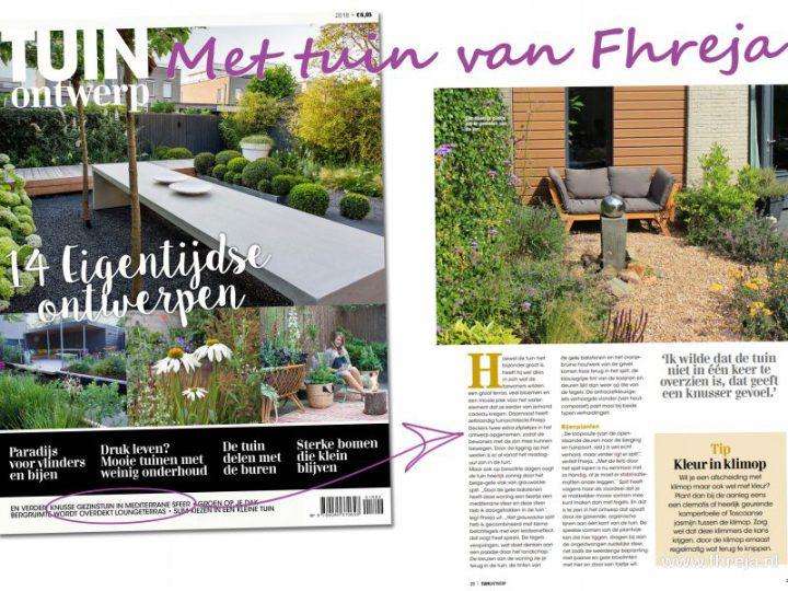 Tuin van Fhreja in magazine 'Tuinontwerp'