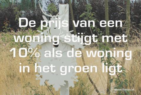 Blog - week 9 - 2014 - De prijs van een woning stijgt met 10% als de woning in het groen ligt - Fhreja - Ontwerpbureau Groene Leefomgeving