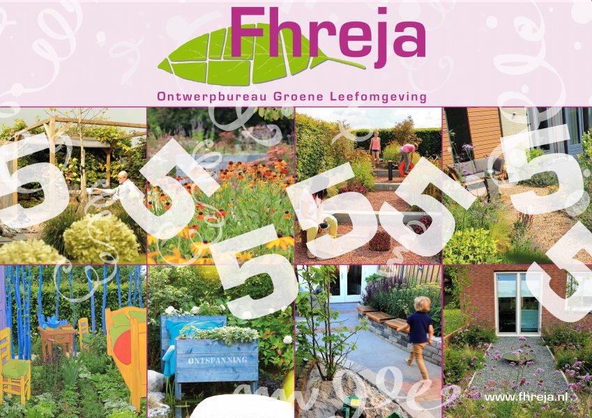 5 jaar Fhreja Ontwerpbureau Groene Leefomgeving