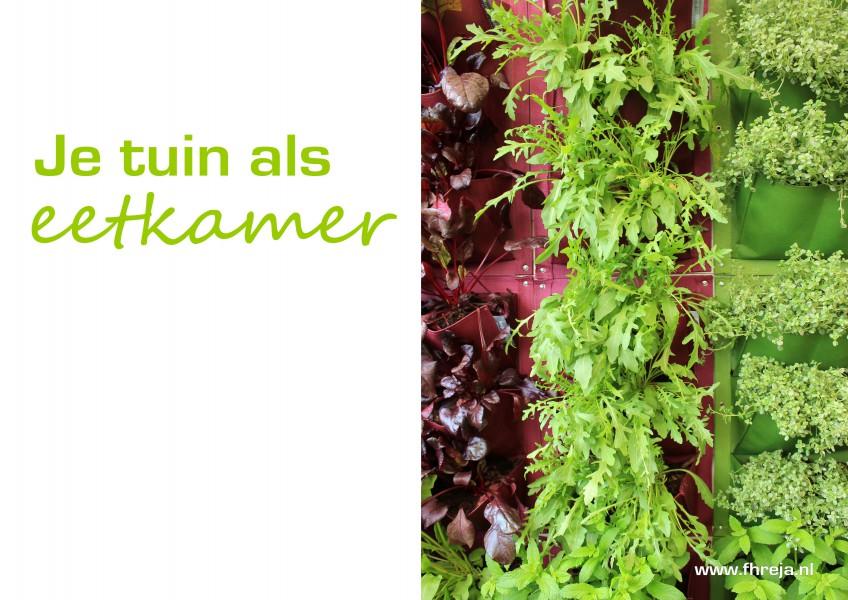 Tuintrend 2016 - Je tuin als eetkamer - Fhreja - Ontwerpbureau Groene Leefomgeving